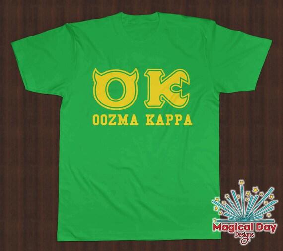 Disney Shirts Oozma Kappa Ok Monsters University Yellow Etsy