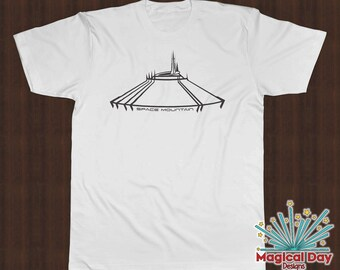 Disney Shirts - Space Mountain (Black Design)
