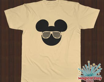 Disney Shirts - Mickey Mouse Stunner Shades (Black Design)