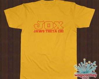 Disney Shirts - Jaws Theta Chi (JOX) Monsters University (Orange Design)