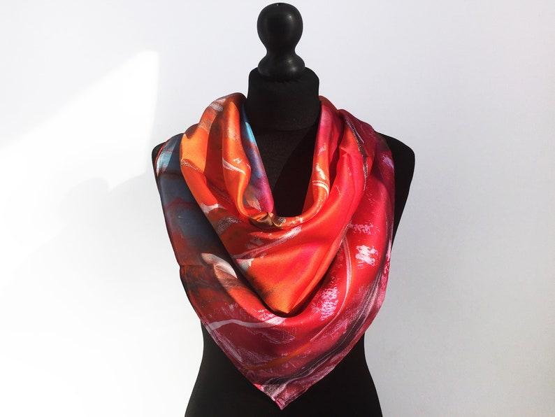 513529410e5 Silk Scarf, Luxury silk scarves, Silk Scarf square, Silk scarf for women,  Women scarf, Gift for Her, red silk scarf, Chinese silk scarf