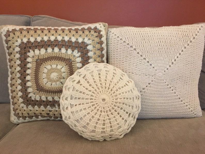 Crochet Pillow Case Crochet Pillow Sham Decorative Pillow Etsy