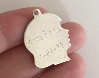 Vintage 1972 Estate Anne Marie 935 Sterling Silver Birth Charm