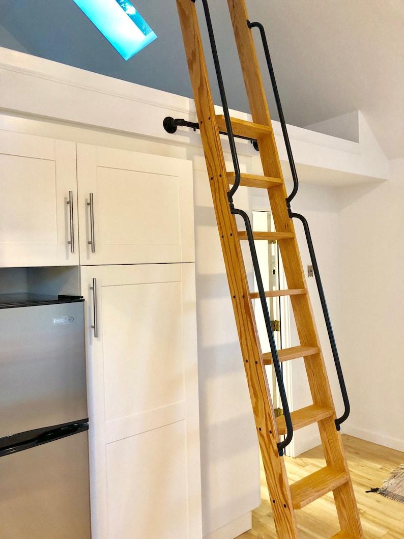 Wood Ladder Loft Ladder Library Ladder Made To Order Etsy