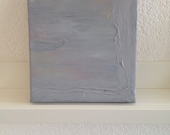 Grey square abstracy painting