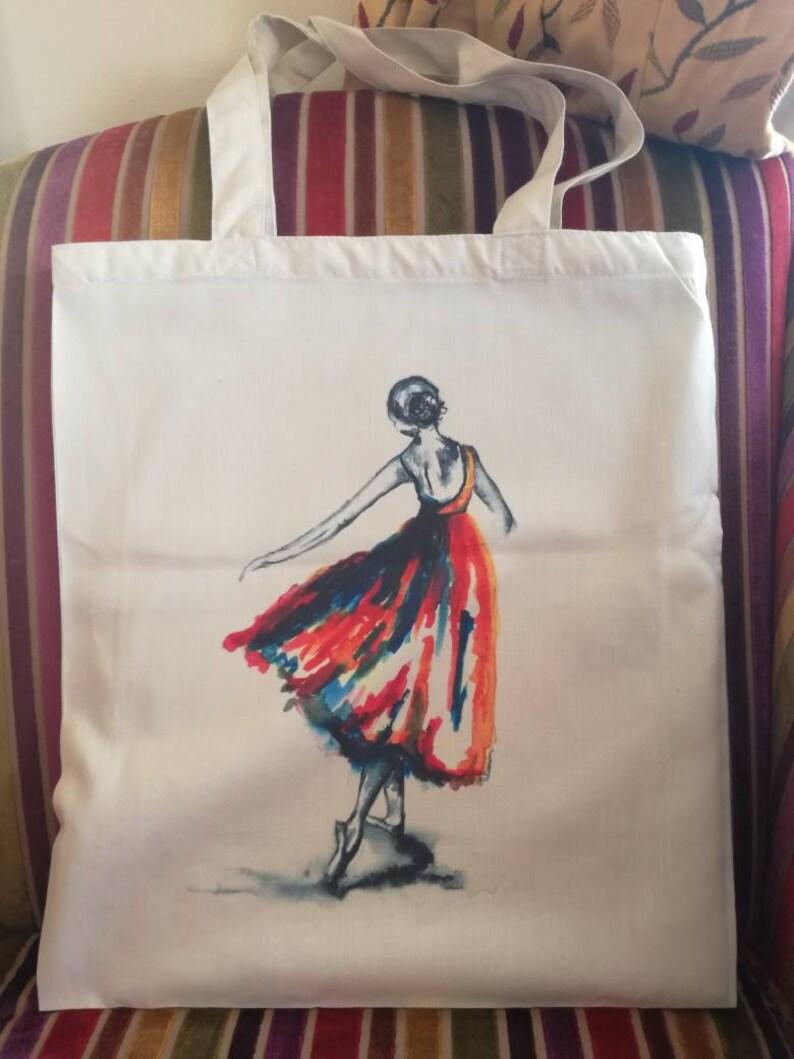 recycled bag ballerina print dancer bag Ballerina bag ballerina gifts bag shopping bag dancer gifts tote bag dancer print