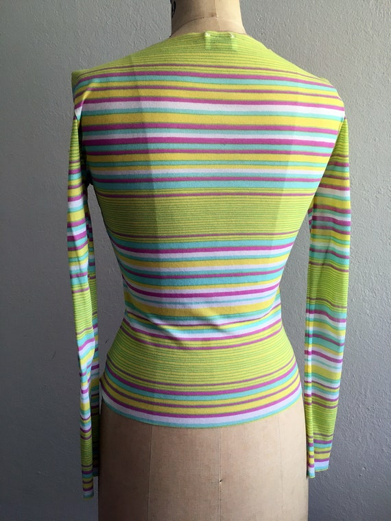 Vintage 1990s Nylon Mesh Stretch Top by OROBLU It… - image 4