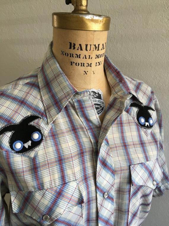 Vintage 1980s Western Shirt - Vampire Bunnies