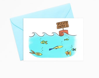 6bd7cf1738 Printable Greeting Card - INSTANT DOWNLOAD - Plenty More Fish in the Sea