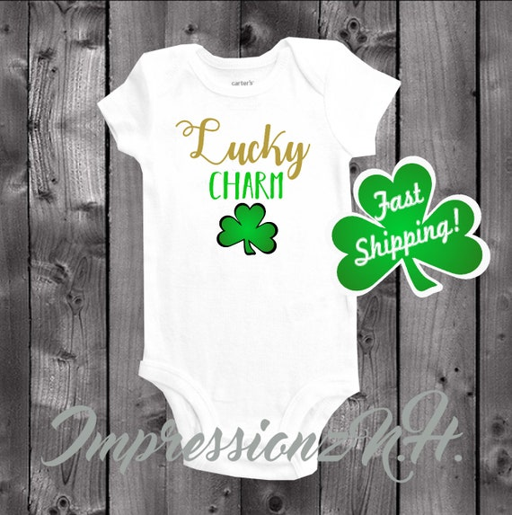 Patricks Day Infant Bodysuit Baby Mamas Lucky Charm Funny Irish Shamrock St