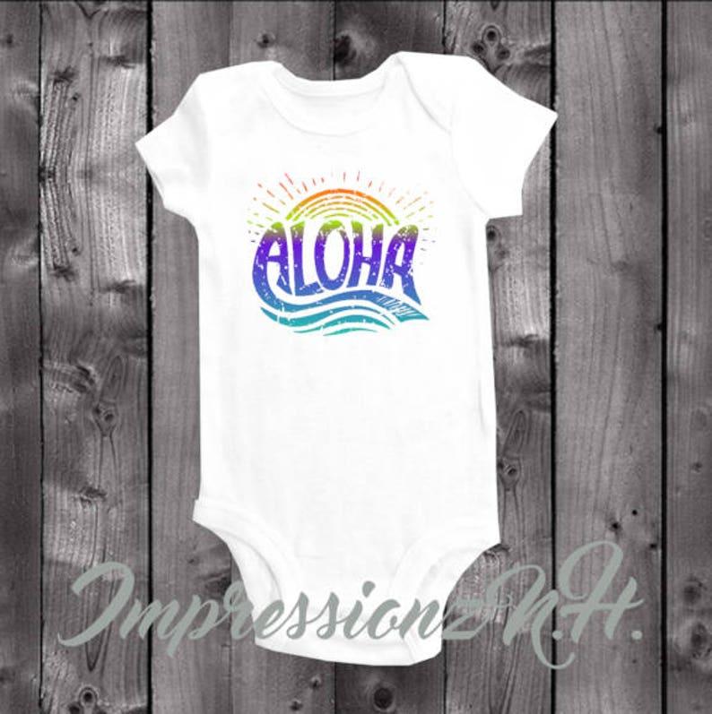 9ce745896544 Aloha baby one-piece bodysuit shirt Aloha baby onesie | Etsy