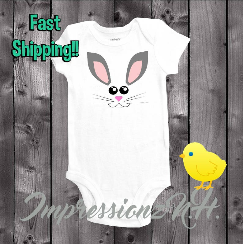 f97052b02 Cute Easter bunny baby onesie one-piece bodysuit shirt for | Etsy