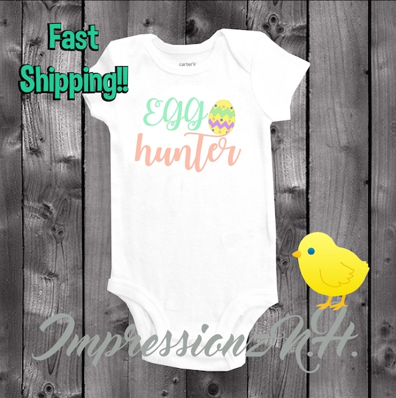 Eggcellent Easter Outfits Happy Easter Easter Egg Egg Hunter Onesie Easter Hunter Big Egg Hunter Onesie