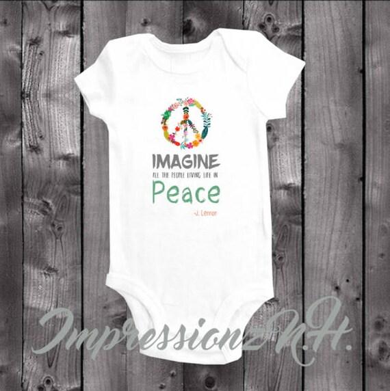 da1f496ba Peace peace baby onesie band onesie band baby shirt | Etsy