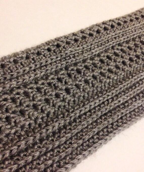 Mens Scarf Crochet Pattern Easy Crochet Pattern Dapper Etsy