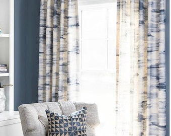 Blue white curtains   Etsy