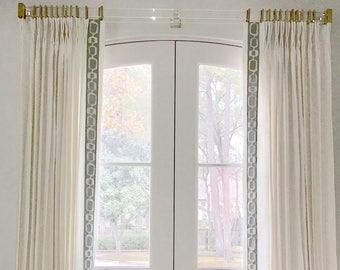 Greek Key Curtains grey trim wide trimmed curtains white linen contemporary greek key curtains with trim custom wide curtains long curtains