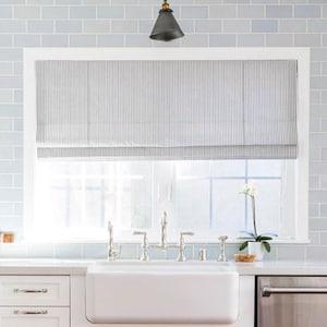 Roman shades | Etsy on wood kitchen ideas, skylight kitchen ideas, window kitchen ideas, roman shades kitchen ideas,