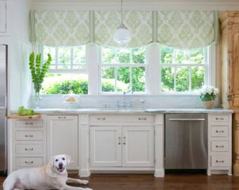 Merveilleux Kitchen Window Valence Custom Fabric Window Valance Custom Length And Width  Designer Kitchen Valance Fabric Cornice Pleated White Bath Shade