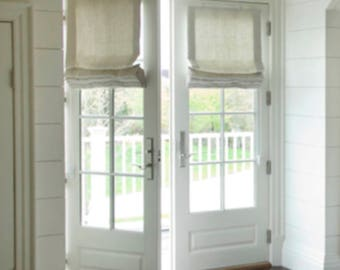 More Colors. Roman Shades For French Doors ...