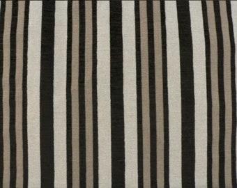 Modern Farmhouse Shower Curtain Striped Grain Sack French Ticking Custom Fabric Feedsack Black Stripe Shabby Chic Country
