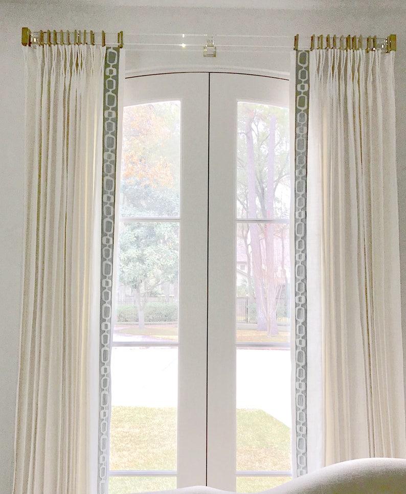 ae2f826e691 Greek Key Curtains grey trim wide trimmed curtains white linen contemporary  greek key curtains with trim custom wide curtains long curtains