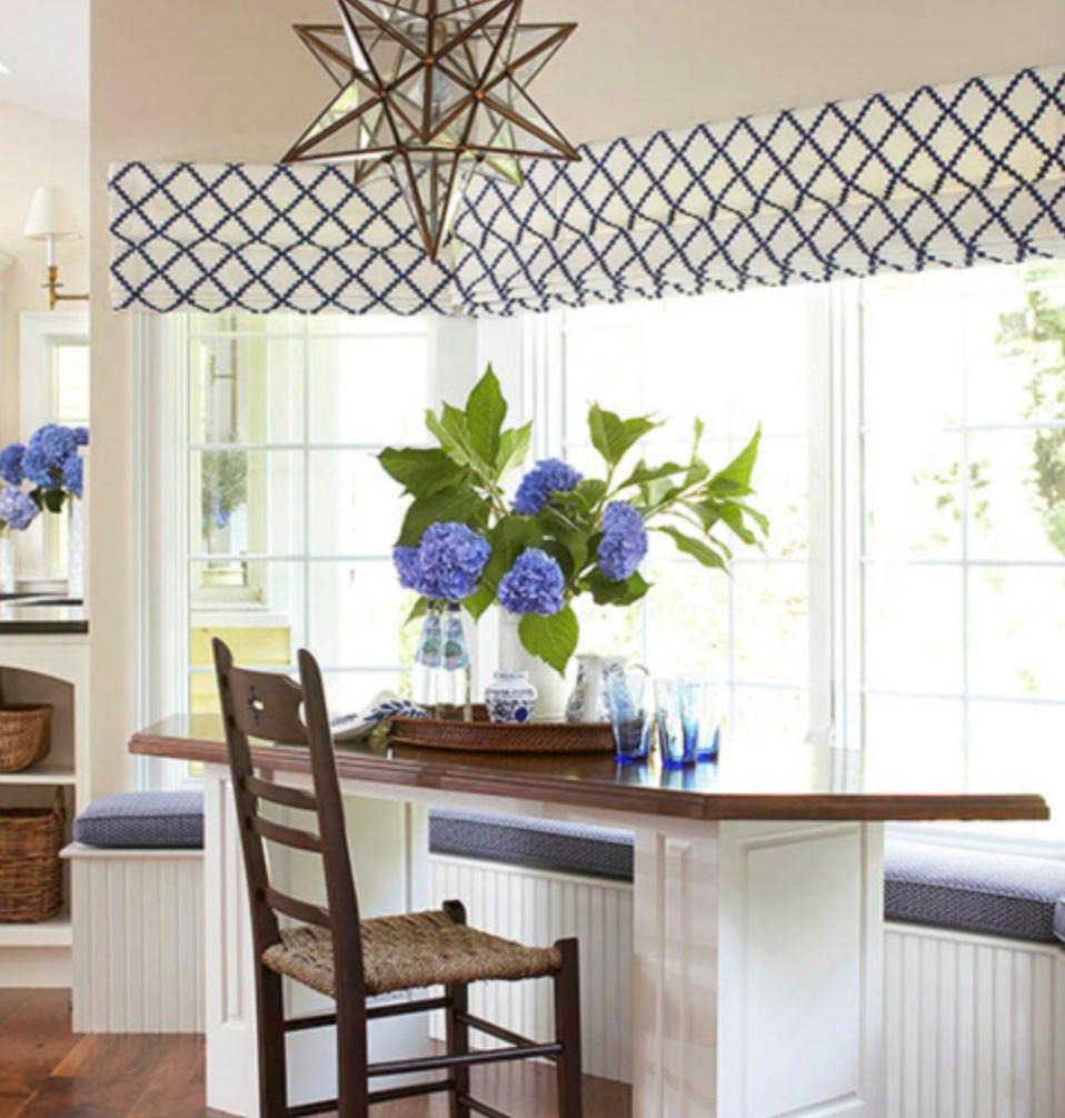 Bay Window Shades Cornice Box Custom Fabric Custom Length