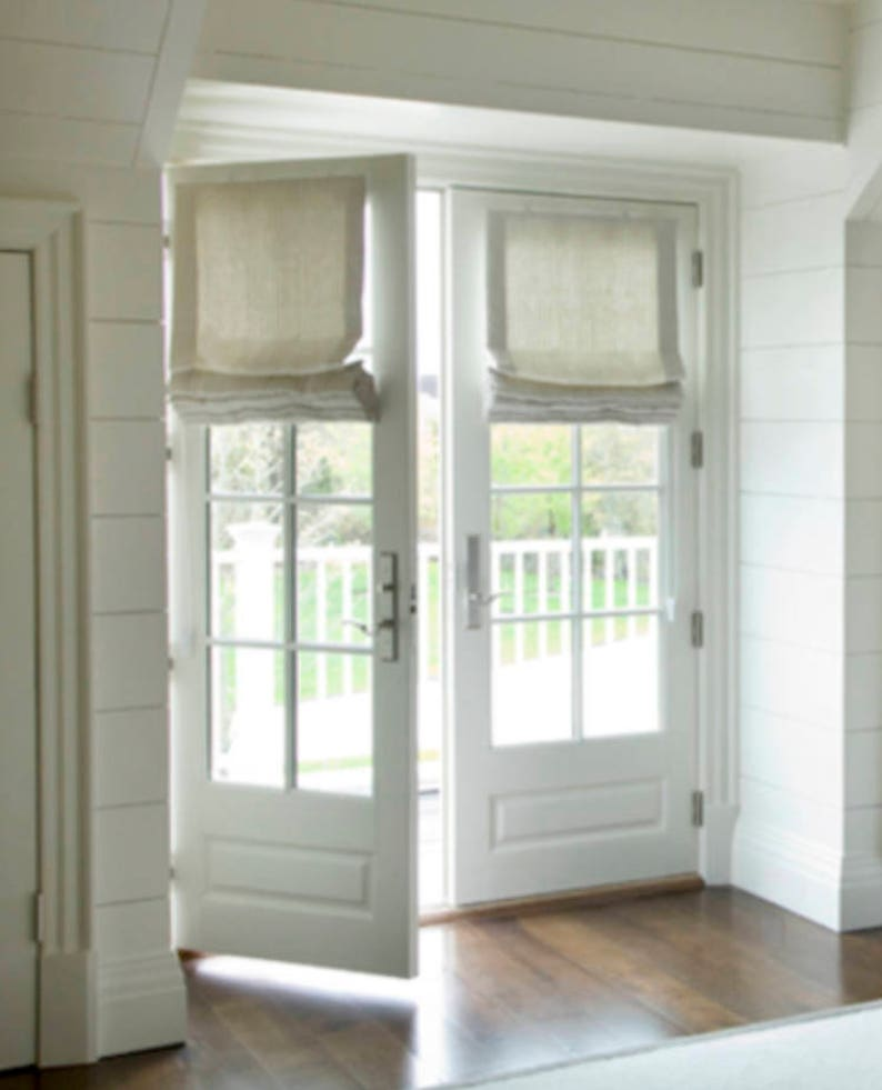 Roman Shades For French Doors Shades For Door Linen