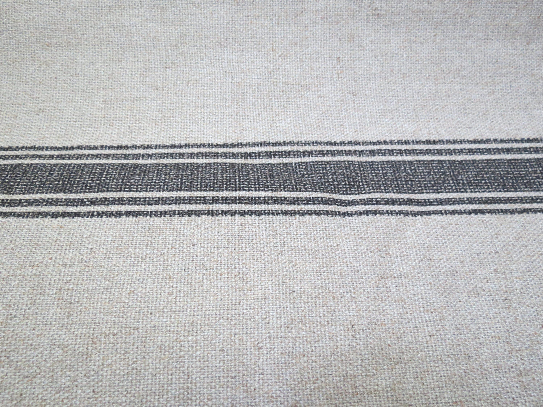Last One Modern Farmhouse Shower Curtain Stripe Black Ticking Tan Ticking Striped Fabric Shower Curtain Shower Curtain Extra Long Extra