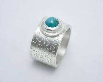 """Ring 925 Silver Turquoise """"Burbujas"""""""
