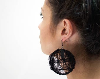 """Lace Ear hoops """"Secret"""""""