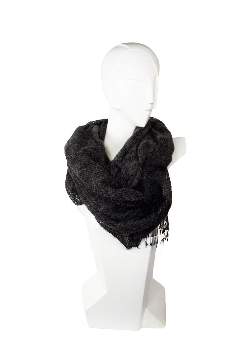 LOOP large scarf woollen stole lace scarf wool loop image 0