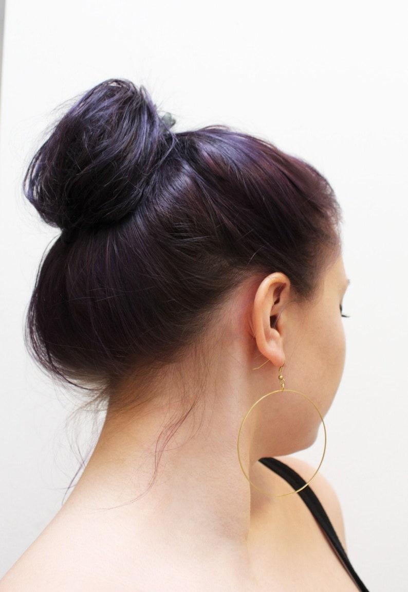 golden creole round earring earhhoops delicate creoles image 0