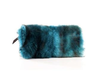 fake fur bag, soft and exclusive fake fur clutch