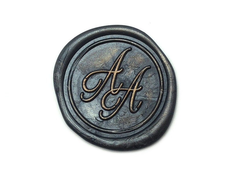 Custom Monogram Wax Seal Stamp Kit MR Calligraphy Wedding