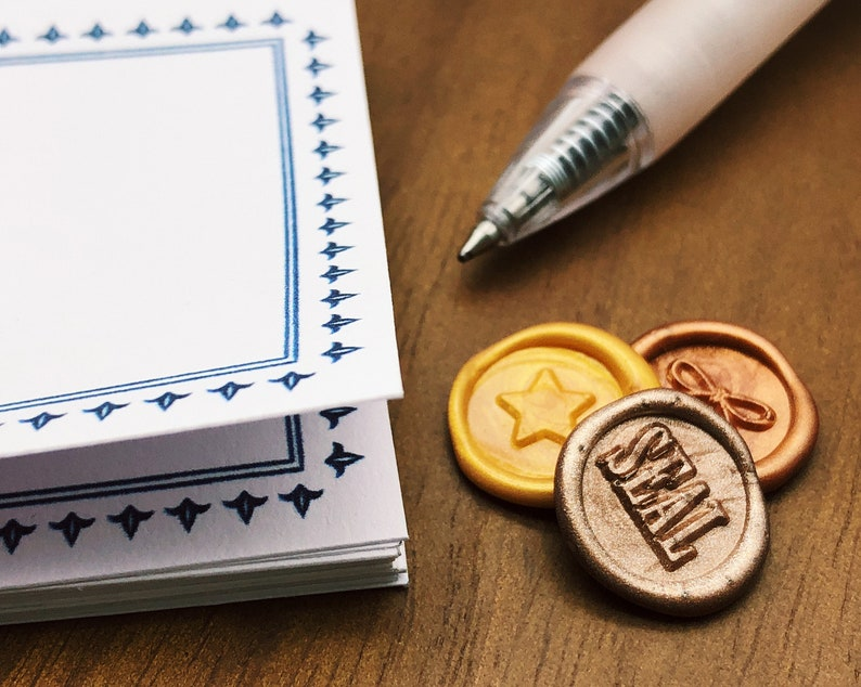Star Mini Wax Seal Stamp Kit Snail Mail Bullet Journal Stamp MR Original Design