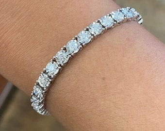 "NEW 3.41 Carat Diamond Tennis Bracelet, Bridal Bracelet, Layering Bracelet, Everyday Bracelet Length 7.25"""