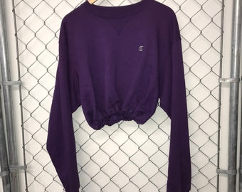 6aa01a6cfbee6 Reworked Champion Crop Top - Purple