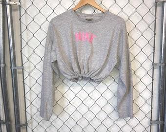 1871f30441ea4 Reworked Nike Longsleeve Crop Top