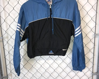 best service 2c767 301f0 Vintage Reworked Adidas Windbreaker Crop