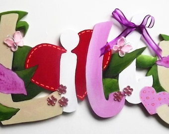 Girls personalised Name Plaque