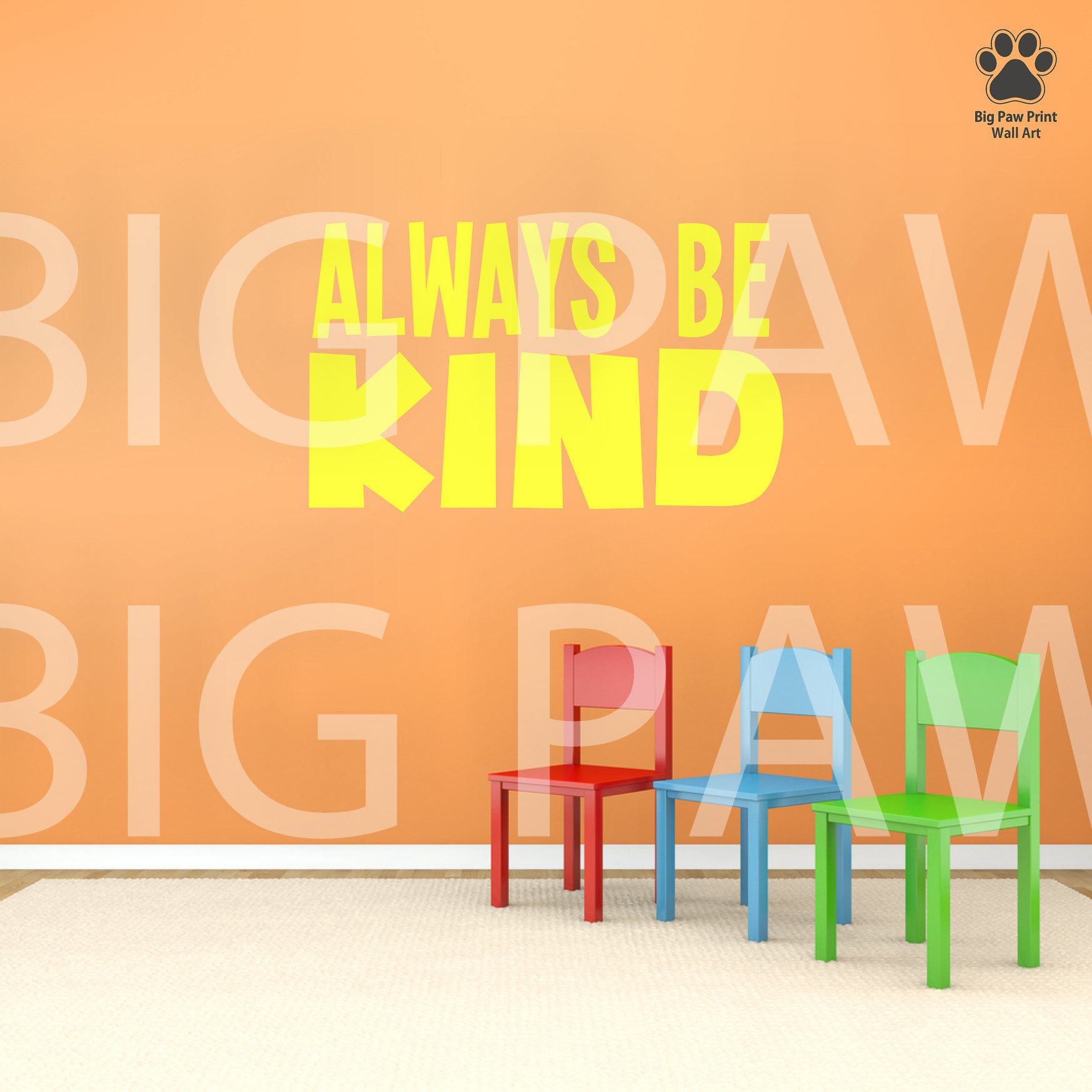 School Wall Decal Always Be Kind Classroom Childrens Vinyl Wall Art ...