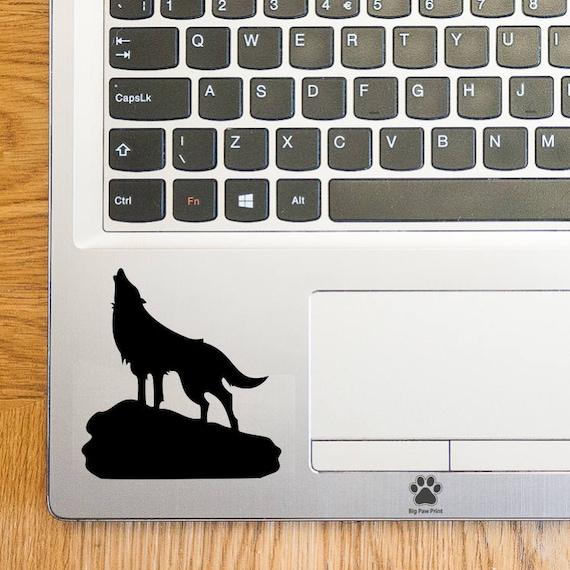 Howling Wolf Laptop Sticker Laptop Decal Trackpad Decal Trackpad Sticker  Touchpad Decal Vinyl Art Sticker
