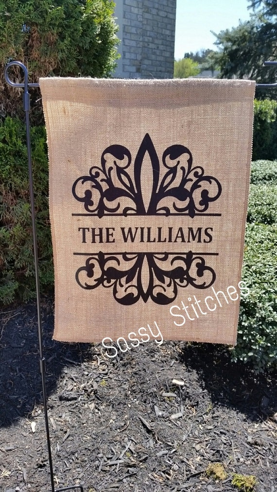 personalized garden flag personalized yard flags etsy