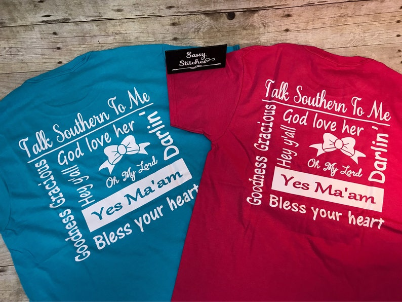 Tee shirt talk southern to me southern tee shirt preppy tee image 0