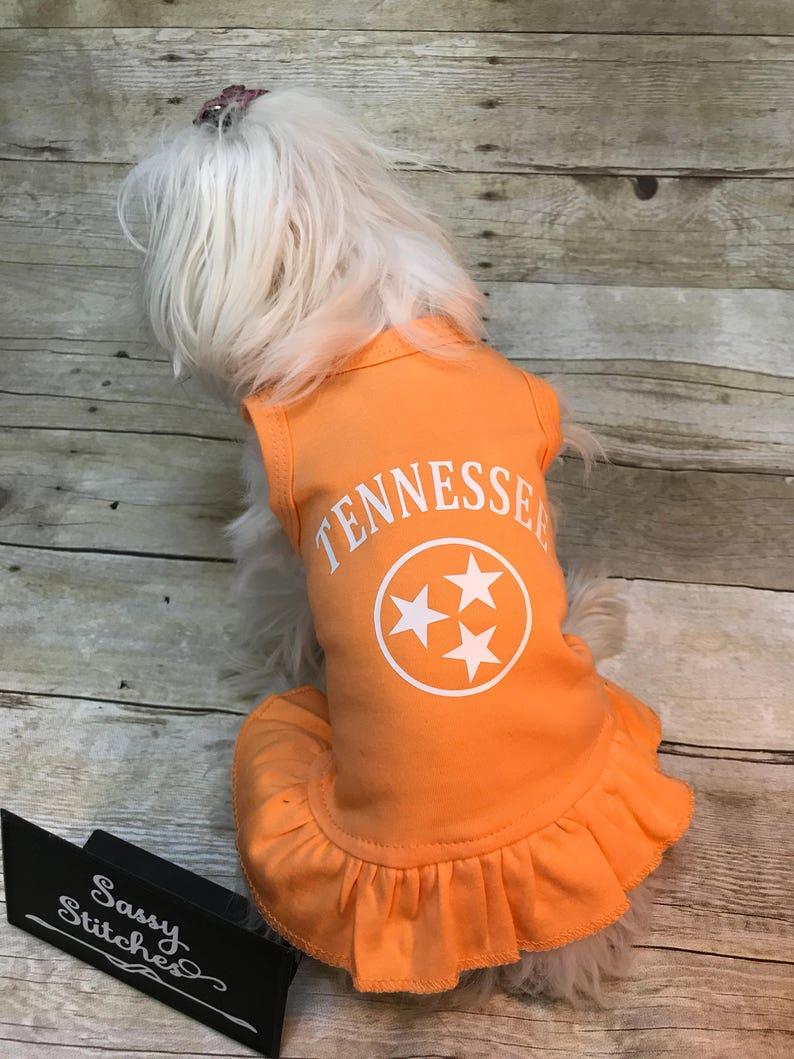 Tennessee dog dress dog dress school spirit  dog dress tri image 0