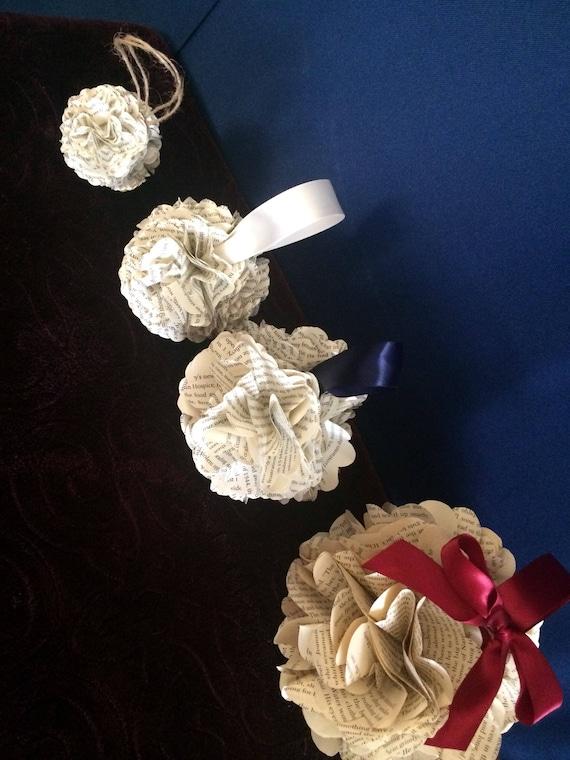 Flower Girl Pomanders Book Paper Kissing Balls Anniversary
