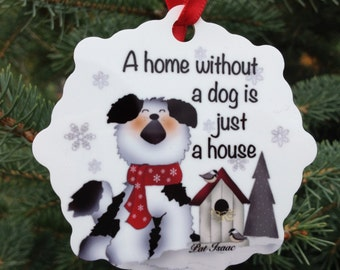 Dog Ornament, Dog Snowflake, Aluminum Snowflake Ornament, Dog Home Ornament, Stocking Stuffer, Gifts Under 10, Something for your Dog