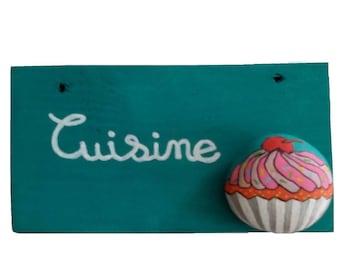 Handmade door or wall painted cupcake cake roller