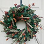 Wreath handmade with preserved folage